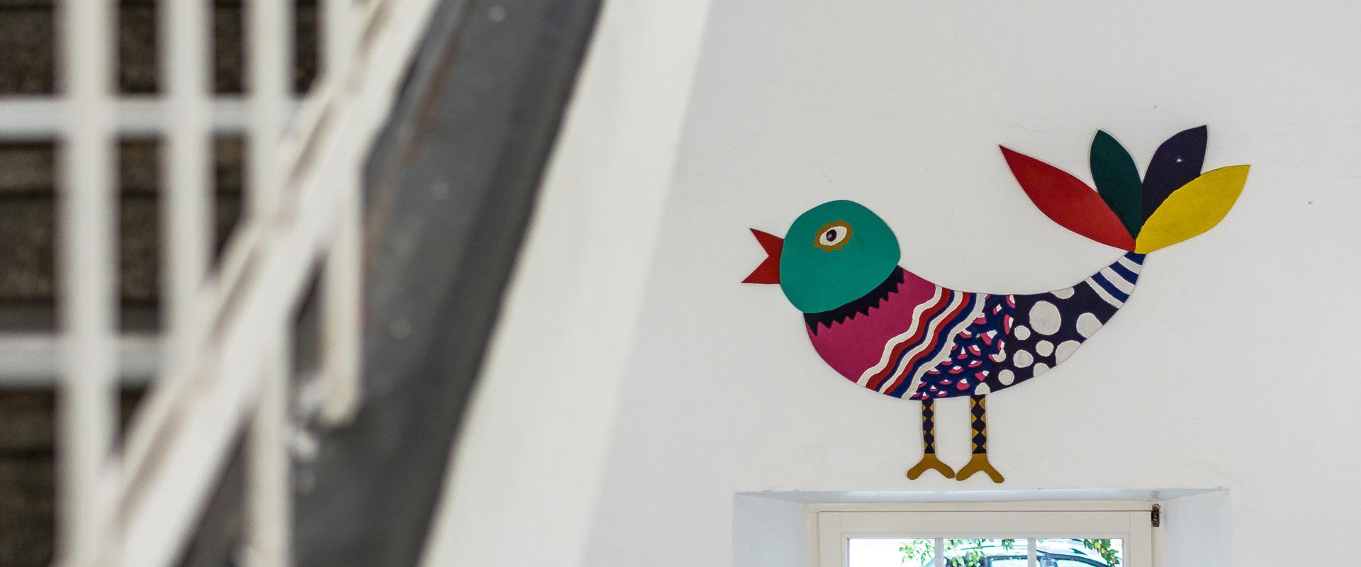 Gebastelter Vogel